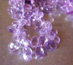 Amethyst, Pink, Pear, Large